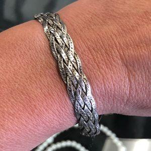 Vintage 925 Sterling Silver Braided Bracelet